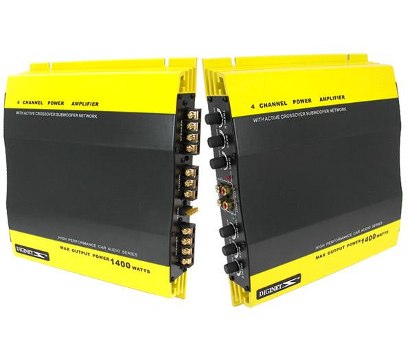two 4 channel 1400w car audio amplifier power amp speaker amplifiers amps bundle ebay. Black Bedroom Furniture Sets. Home Design Ideas