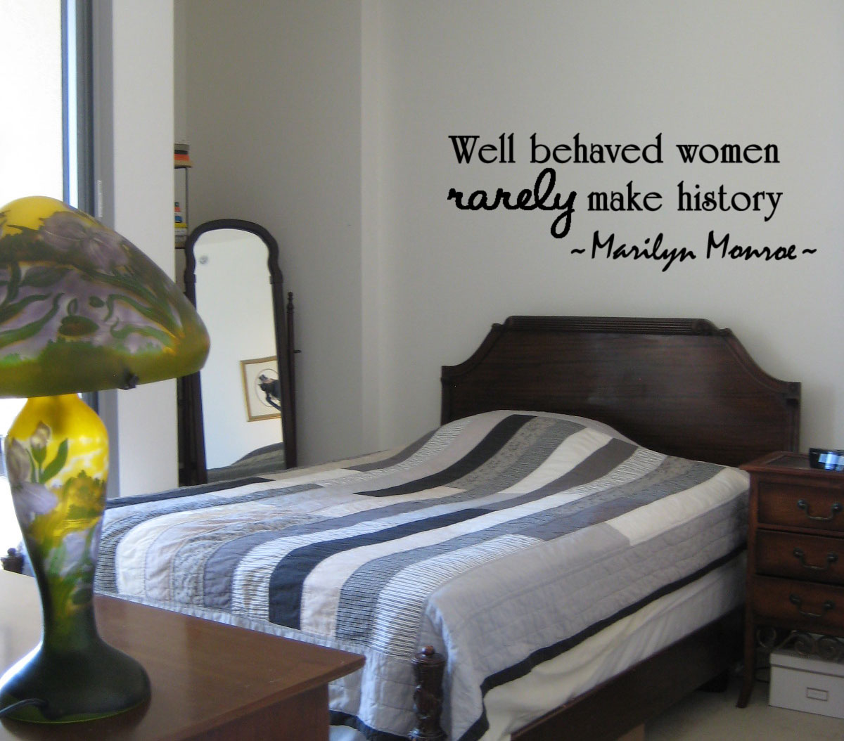 Well Behaved Women Marilyn Monroe Wall Quote Decal Home